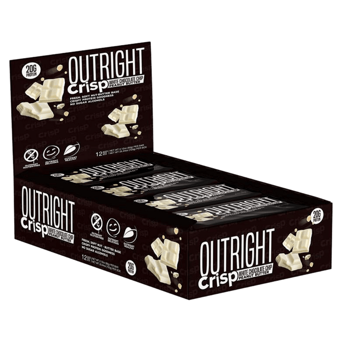 MTS Nutrition Outright Bar Protein Bars Box of 12 / White Chocolate Chip Peanut Butter Crisp at Supplement Superstore Canada