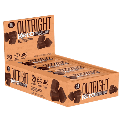 MTS Nutrition Outright Keto Bar Protein Bars Box of 12 / Chocolate Fudge Peanut Butter at Supplement Superstore Canada