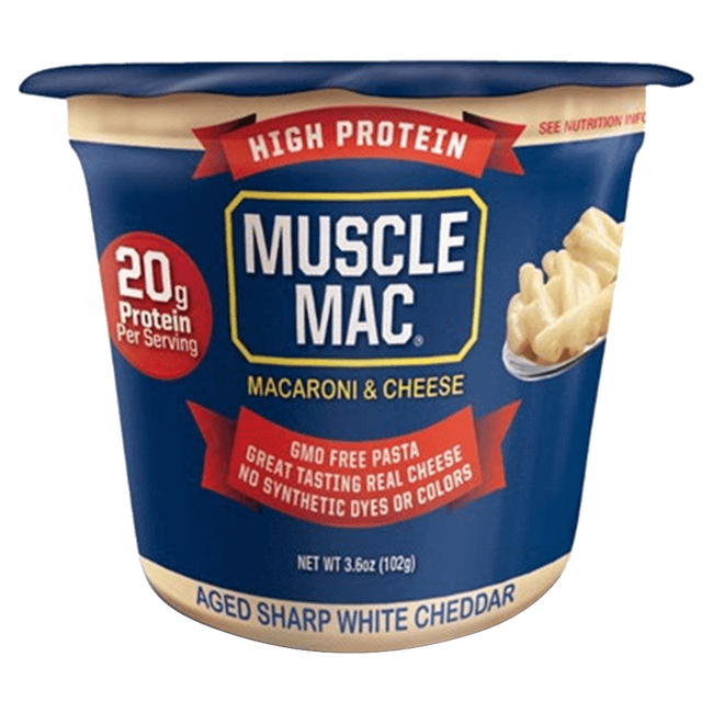 Muscle Mac Microwave Cup Functional Food 6.75oz / Aged Sharp White Cheddar at Supplement Superstore Canada