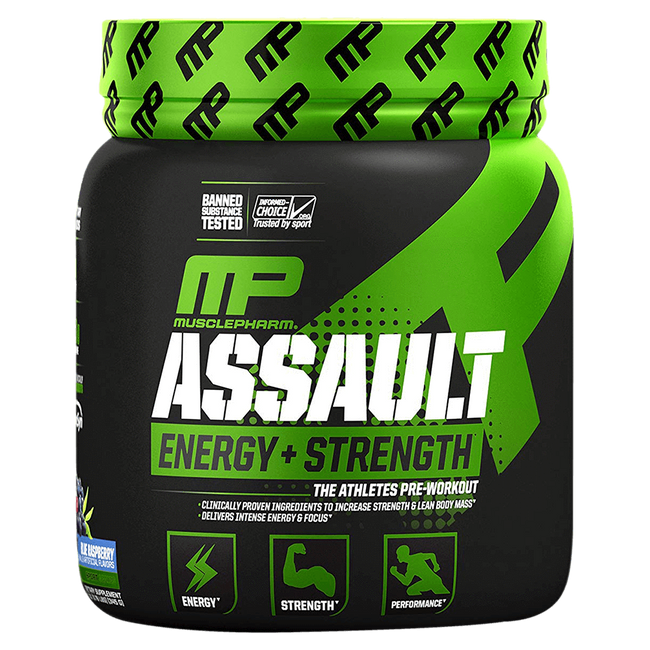 MusclePharm Assault Sport Pre-Workout 30 Servings / Blue Raspberry at Supplement Superstore Canada