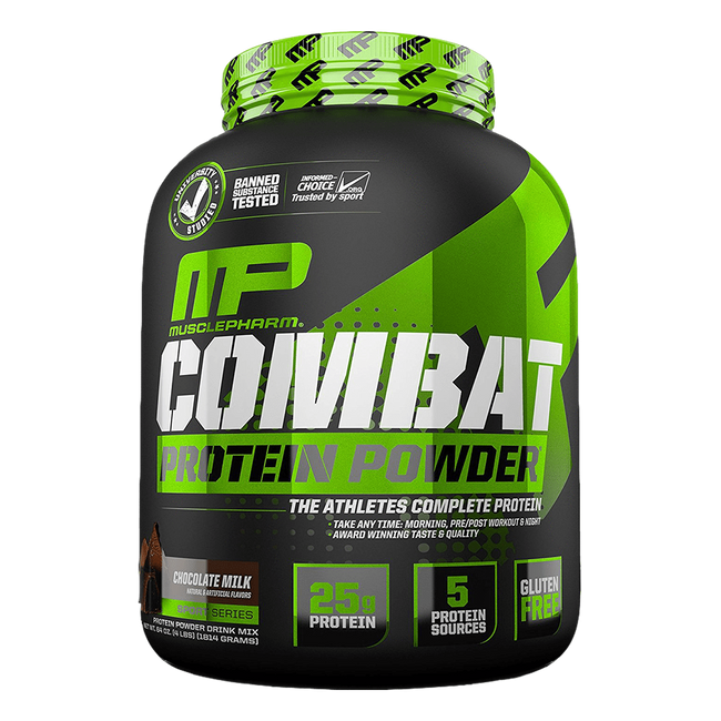 MusclePharm Combat Protein Powder Sustained Release Protein 4lb / Chocolate Milk at Supplement Superstore Canada