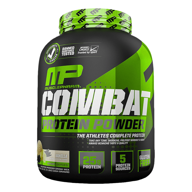 MusclePharm Combat Protein Powder Sustained Release Protein 4lb / Vanilla at Supplement Superstore Canada