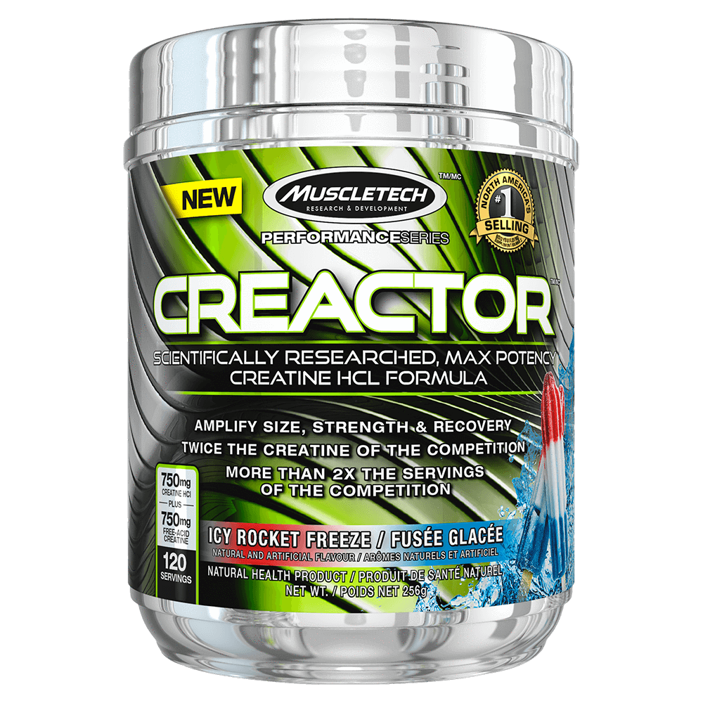 MuscleTech Creactor Creatine 120 Servings / Icy Rocket Freeze at Supplement Superstore Canada