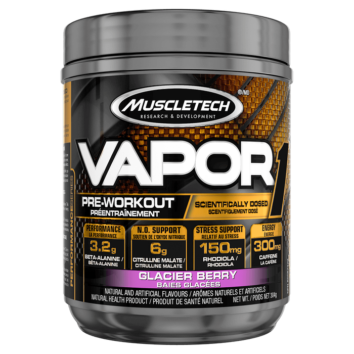 MuscleTech Vapor1 Pre Workout 20 Servings / Glacier Berry at Supplement Superstore Canada