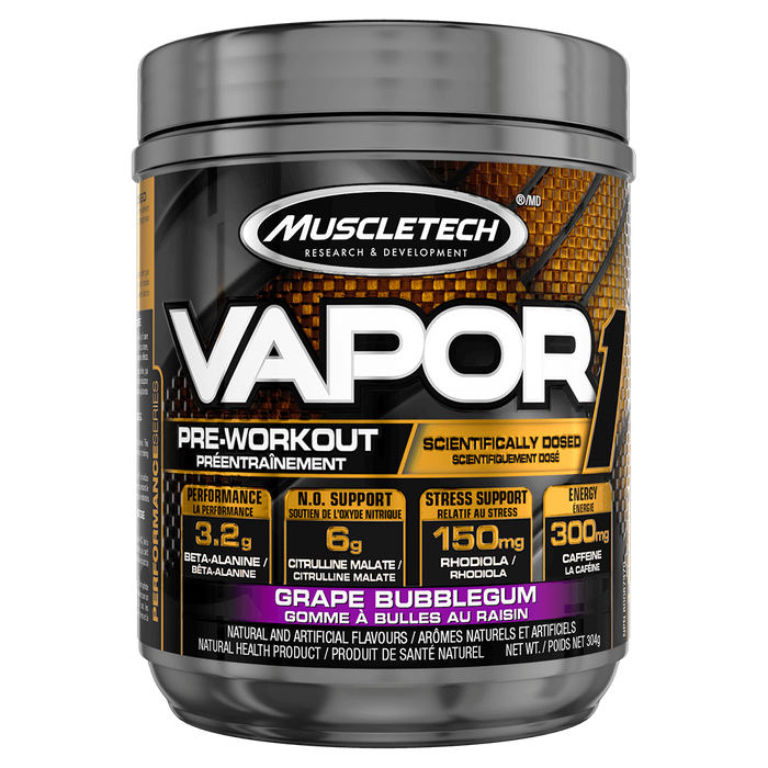 MuscleTech Vapor1 Pre Workout 20 Servings / Grape Bubblegum at Supplement Superstore Canada