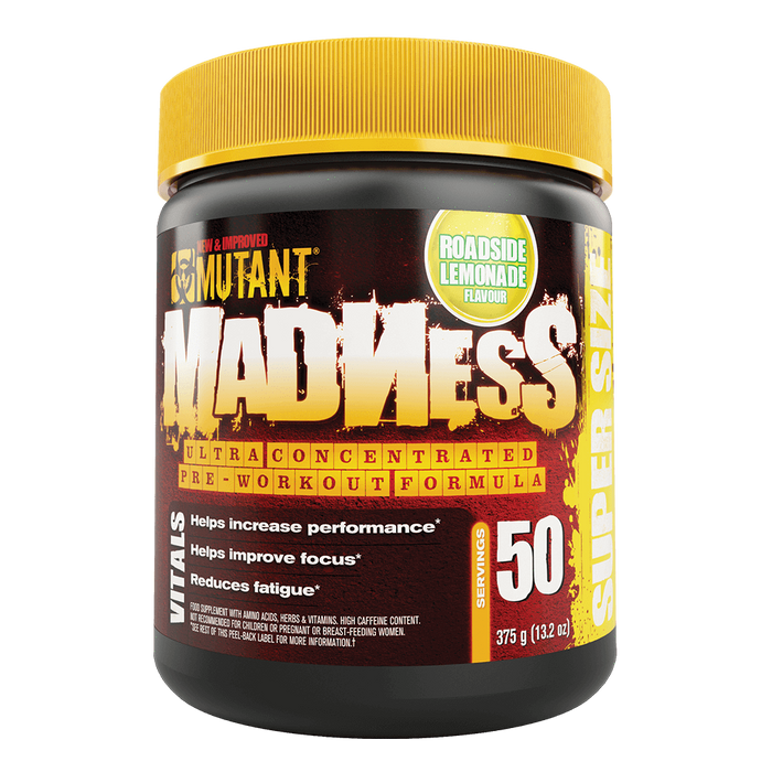 "Mutant Madness Pre-Workout 50 Servings ""Super Size"" / Roadside Lemonade at Supplement Superstore Canada"