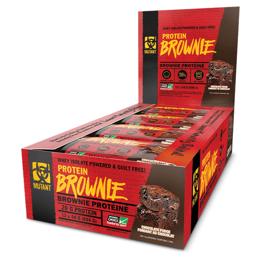 Mutant Protein Brownie Protein Bars Box of 12 / Chocolate Fudge at Supplement Superstore Canada