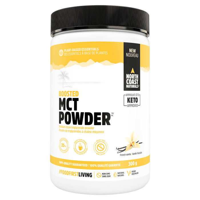 North Coast Naturals MCT Powder Fatty Acid 300g / French Vanilla at Supplement Superstore Canada 627933100319