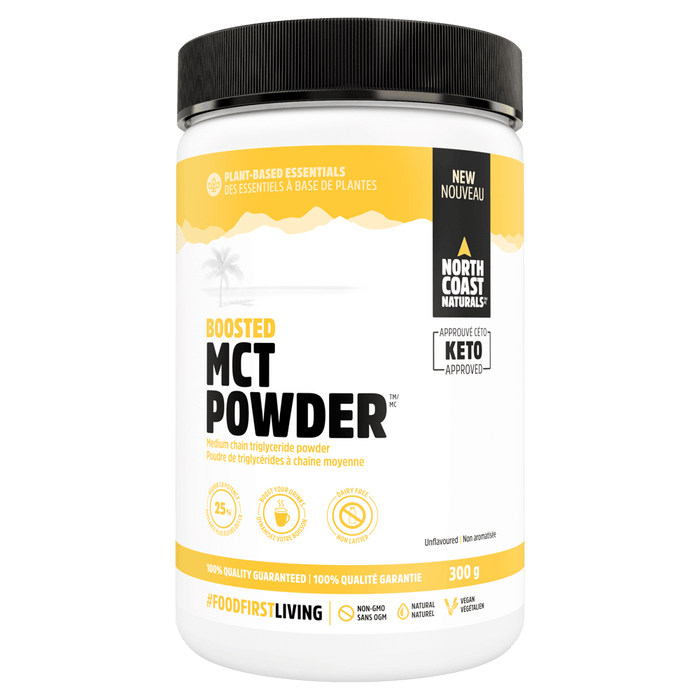 North Coast Naturals MCT Powder Fatty Acid 300g / Unflavoured at Supplement Superstore Canada 627933100302