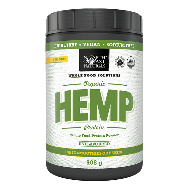 North Coast Naturals Organic Hemp Protein Vegan Protein 2lb / Unflavoured at Supplement Superstore Canada