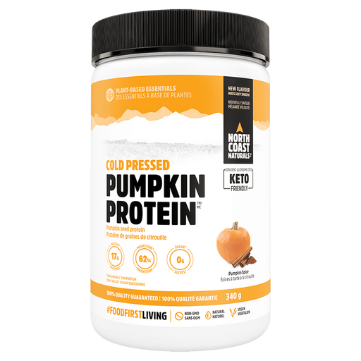 North Coast Naturals Pumpkin Protein Protein Powder 340g / Pumpkin Spice at Supplement Superstore Canada 627933100241