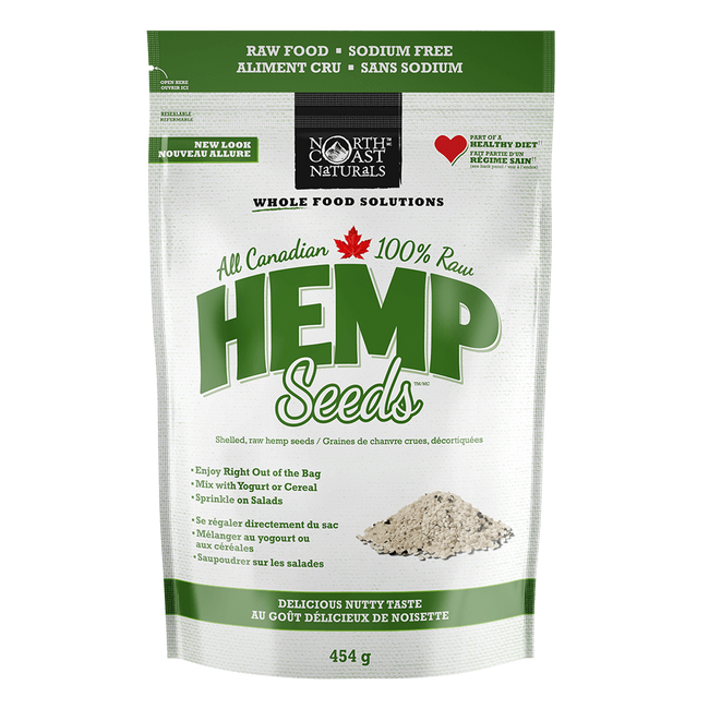 North Coast Naturals Raw Hemp Seed Hearts Vegan Protein 1lb / Unflavoured at Supplement Superstore Canada