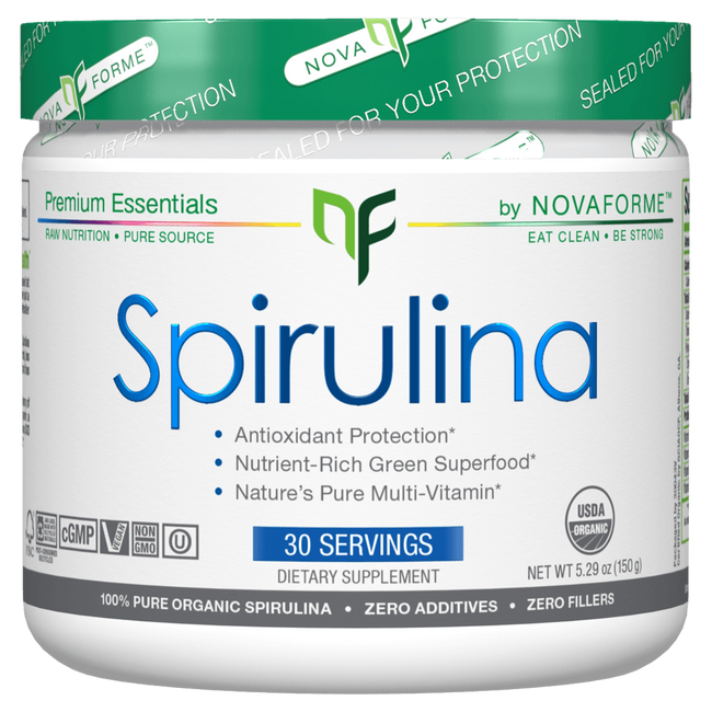 Unflavoured Spirulina by NovaForme Greens Detox Anti Oxidant at Supplement Superstore Canada