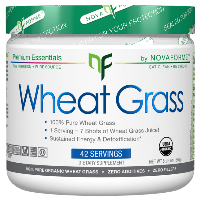 NovaForme Wheat Grass Greens 42 Servings / Unflavoured at Supplement Superstore Canada