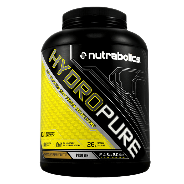 Nutrabolics HydroPure Whey Protein Isolate 4.5lb / Chocolate Peanut Butter at Supplement Superstore Canada