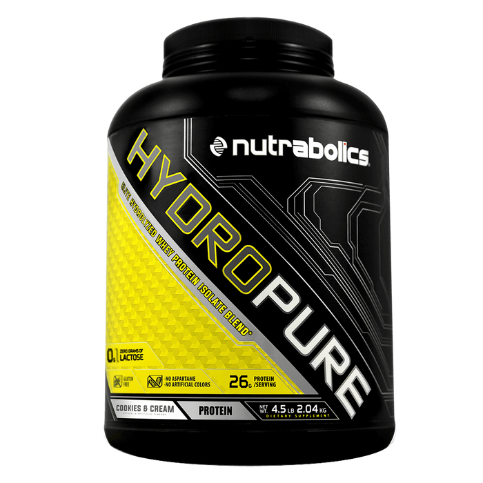 Nutrabolics HydroPure Whey Protein Isolate 4.5lb / Cookies & Cream at Supplement Superstore Canada