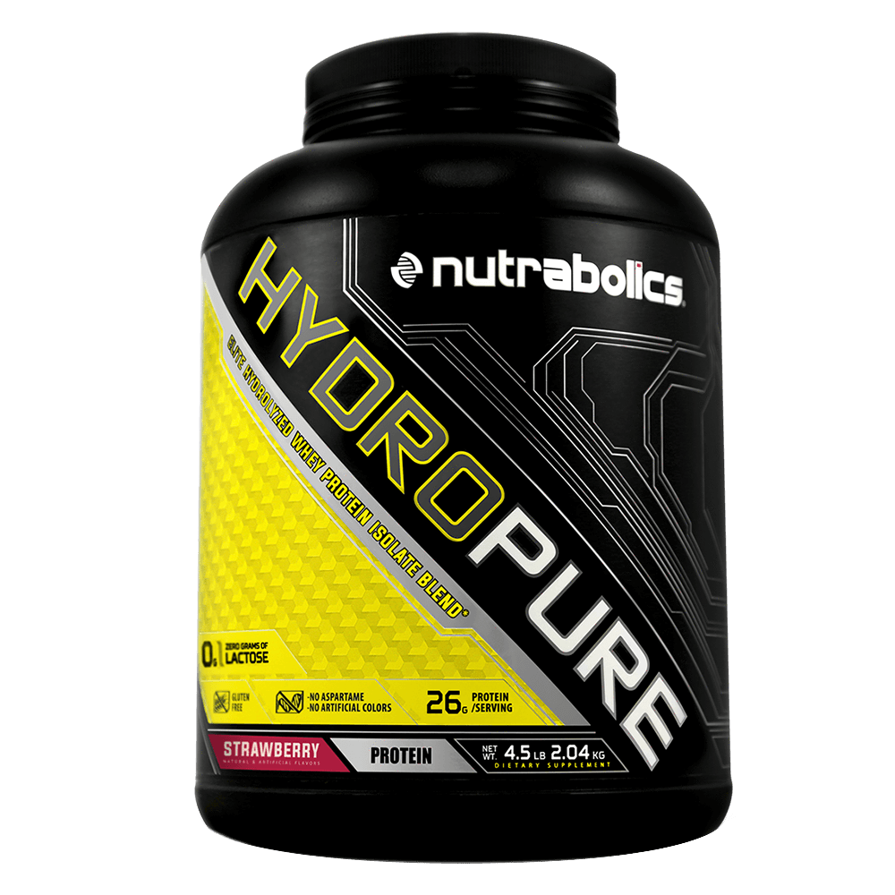 Strawberry HydroPure by Nutrabolics Hydrolyzed Whey Protein Isolate at Supplement Superstore Canada
