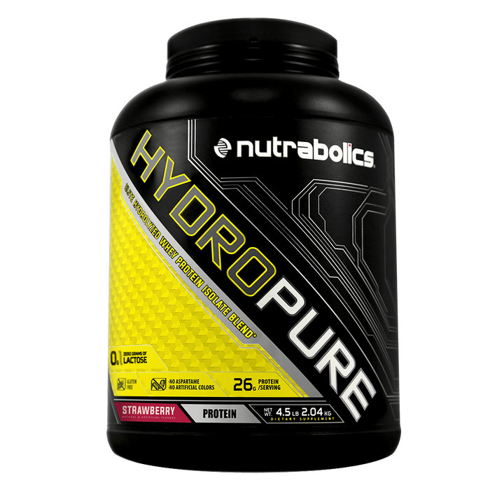 Nutrabolics HydroPure Whey Protein Isolate 4.5lb / Strawberry at Supplement Superstore Canada