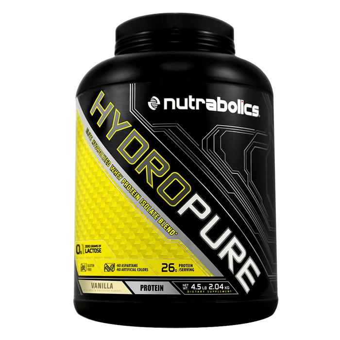 Nutrabolics HydroPure Whey Protein Isolate 4.5lb / Vanilla at Supplement Superstore Canada