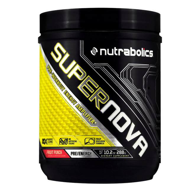 Nutrabolics Supernova Pre-Workout 20 Servings / Fruit Punch at Supplement Superstore Canada