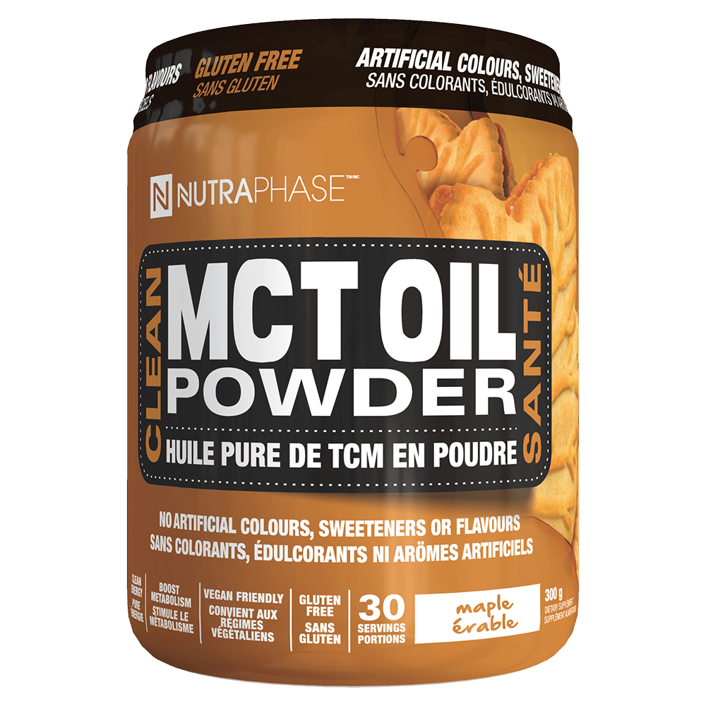 Nutraphase MCT Oil Powder Fatty Acid 30 Servings / Maple at Supplement Superstore Canada