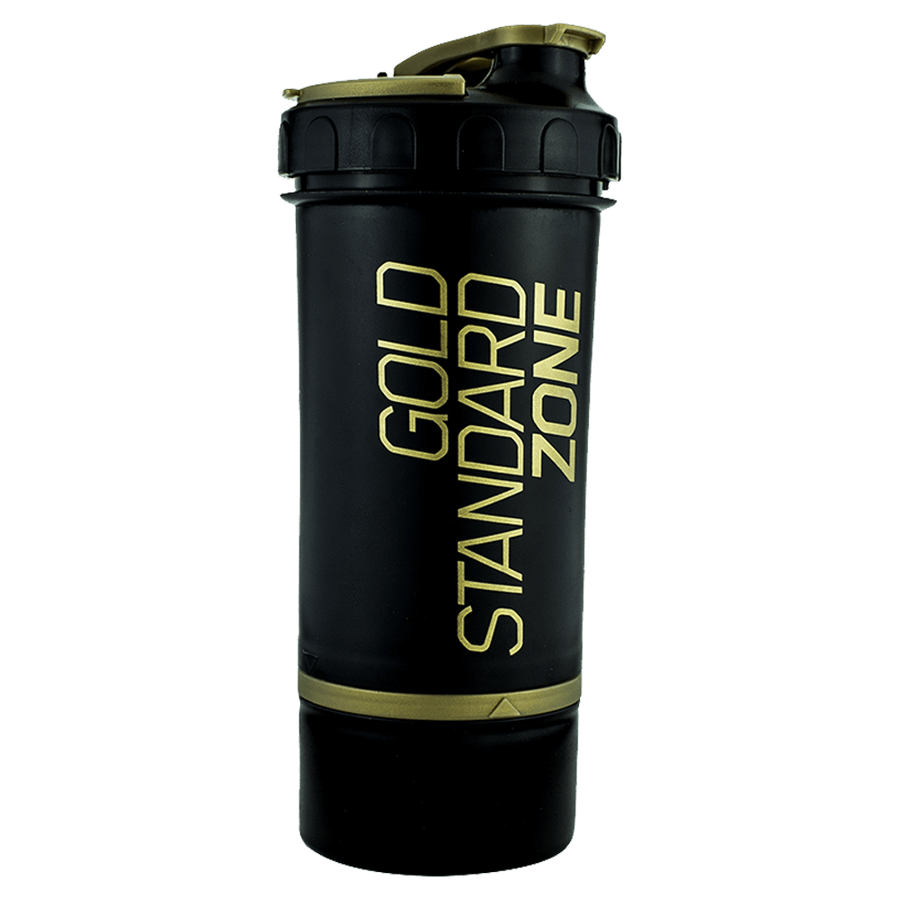 Optimum Nutrition Deluxe Shaker Shaker 600ml / Gold Standard Zone / Black/Gold at Supplement Superstore Canada