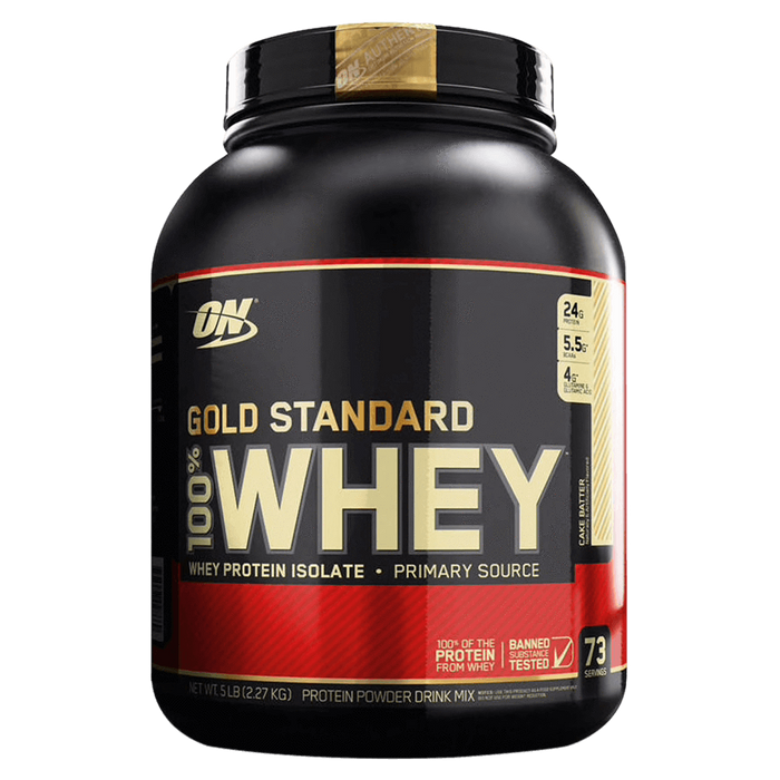Optimum Nutrition Gold Standard 100% Whey Protein Mixed Source Whey Protein 5lb / Cake Batter at Supplement Superstore Canada