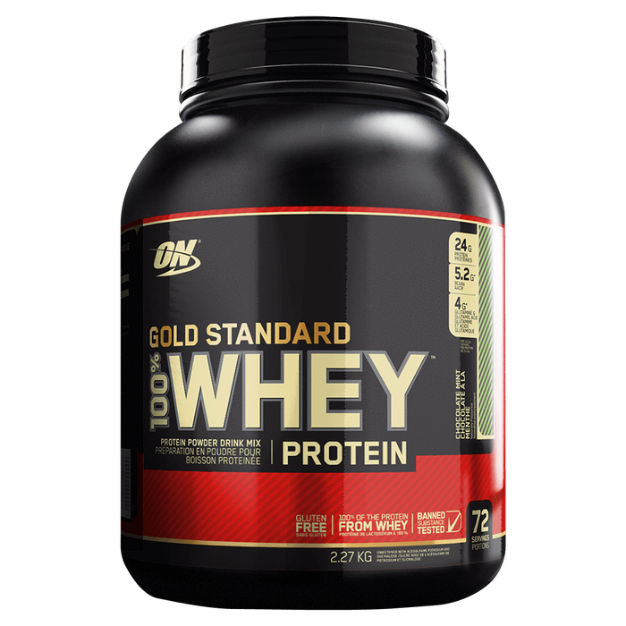 Optimum Nutrition Gold Standard 100% Whey Protein Mixed Source Whey Protein 5lb / Chocolate Mint at Supplement Superstore Canada
