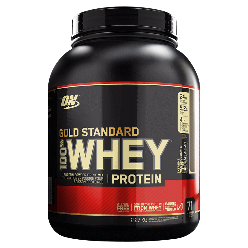 Optimum Nutrition Gold Standard 100% Whey Protein Mixed Source Whey Protein 5lb / Double Rich Chocolate at Supplement Superstore Canada
