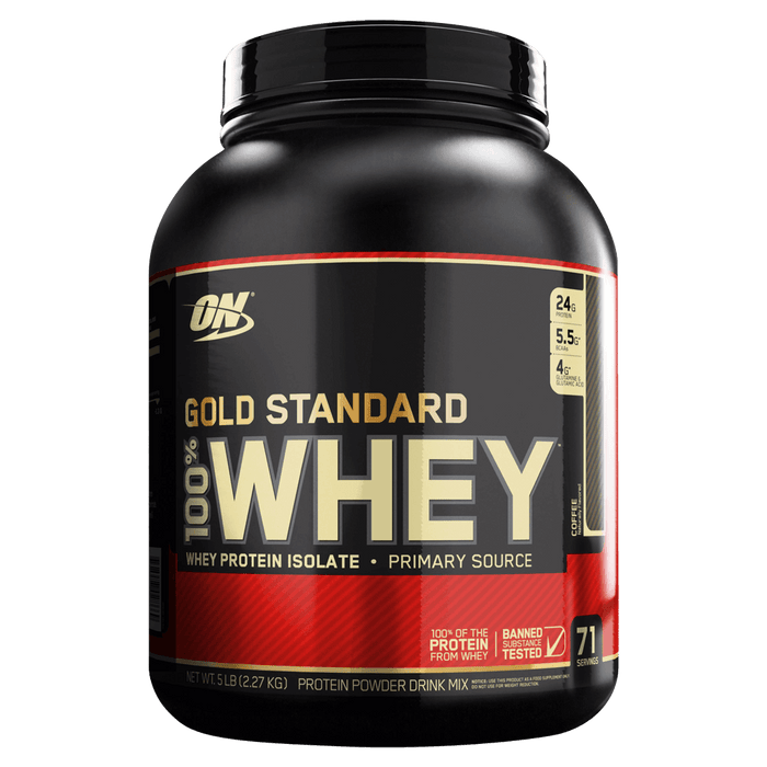 Optimum Nutrition Gold Standard Whey Protein Protein Powder 5lb / Coffee at Supplement Superstore Canada