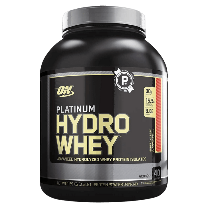 Optimum Nutrition Platinum HydroWhey Protein Powder 3.5lb / Supercharged Strawberry at Supplement Superstore Canada