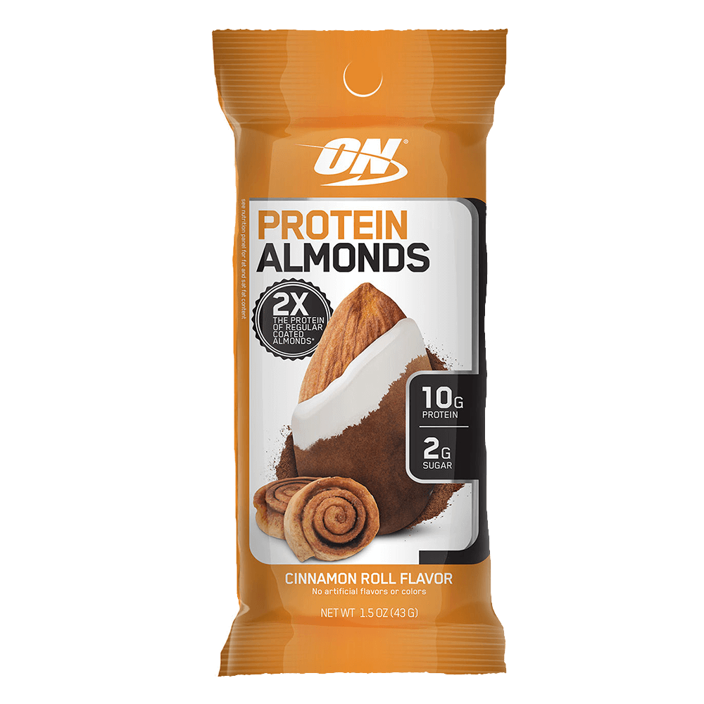 Optimum Nutrition Protein Almonds Functional Food 1 Packet / Cinnamon Roll at Supplement Superstore Canada