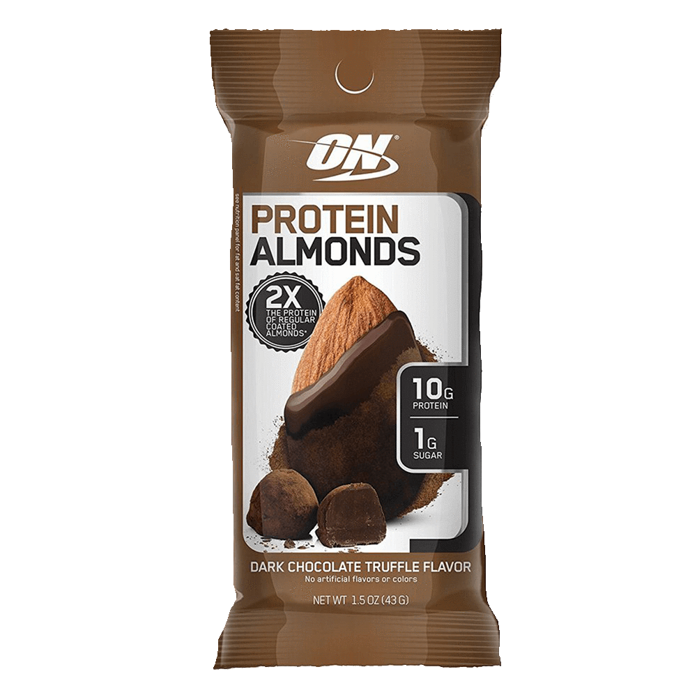 Optimum Nutrition Protein Almonds Functional Food 1 Packet / Dark Chocolate Truffle at Supplement Superstore Canada