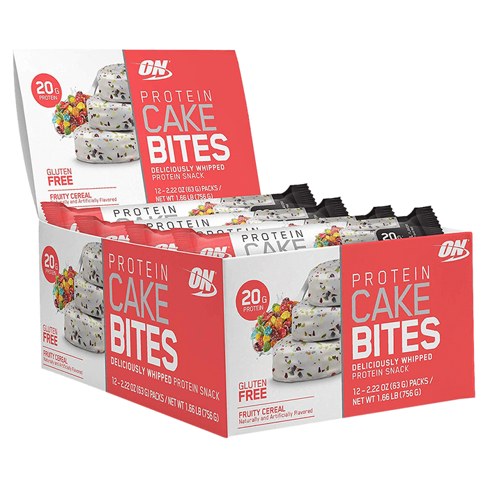 Optimum Nutrition Protein Cake Bites Protein Bar Box of 12 / Fruity Cereal at Supplement Superstore Canada