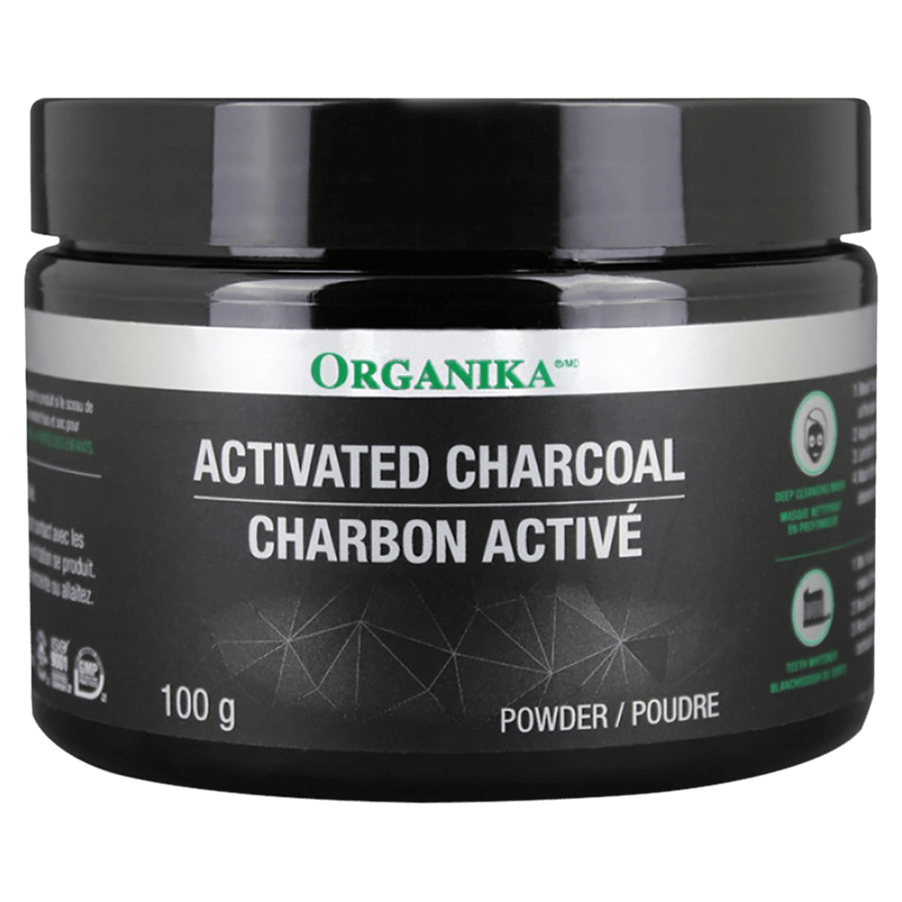 Organika Activated Charcoal Skin Care 100g at Supplement Superstore Canada