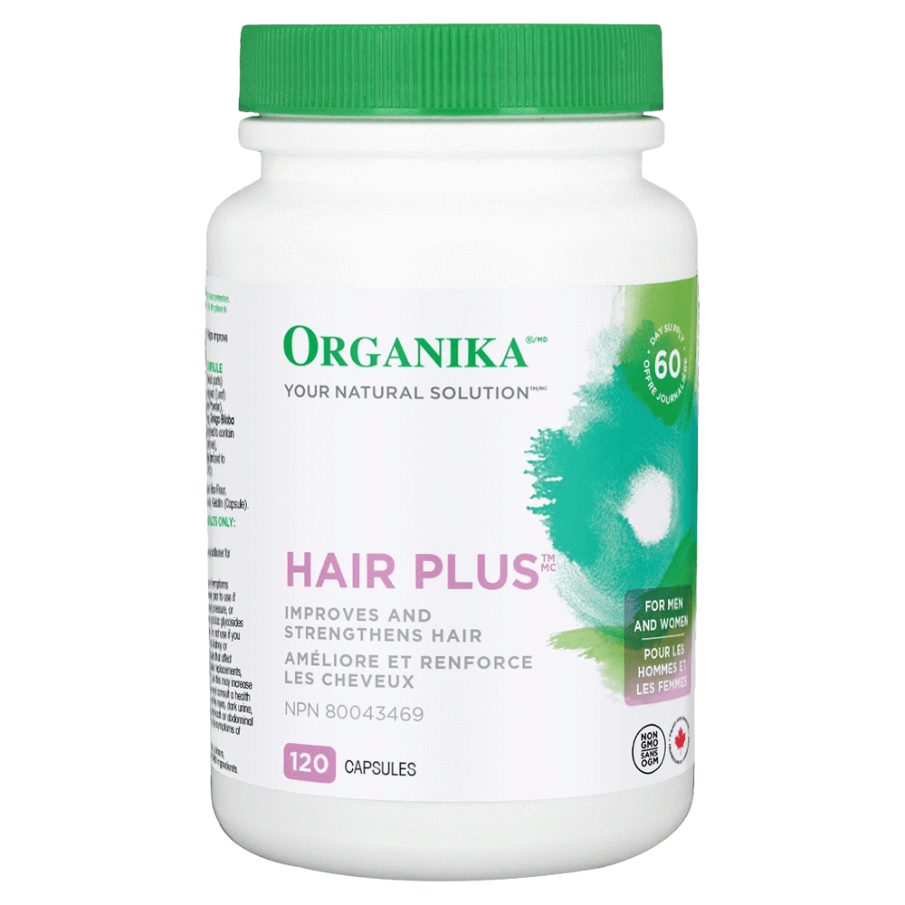 Organika Hair Plus Beauty 120 Capsules at Supplement Superstore Canada