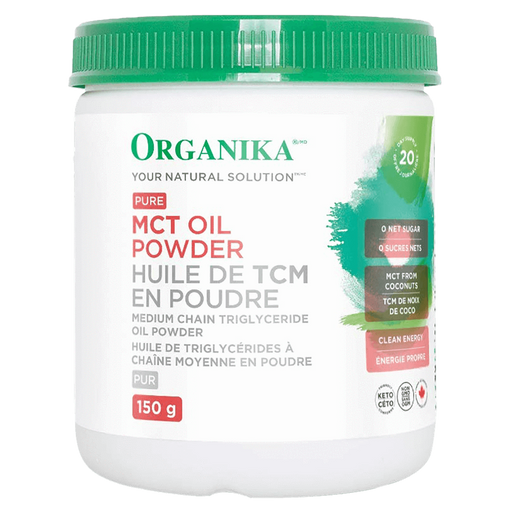 Organika MCT Oil Powder Fatty Acid 150g / Unflavoured at Supplement Superstore Canada