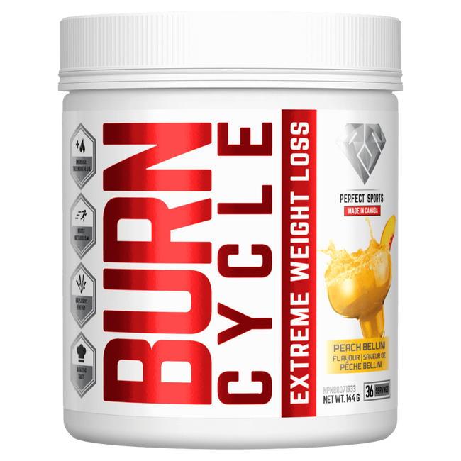 Peach Bellini Burn Cycle by Perfect Sports Weight Loss Support Fat Burner at Supplement Superstore Canada