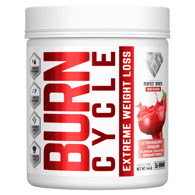 Strawberry Daiquiri Burn Cycle by Perfect Sports Weight Loss Support Fat Burner at Supplement Superstore Canada