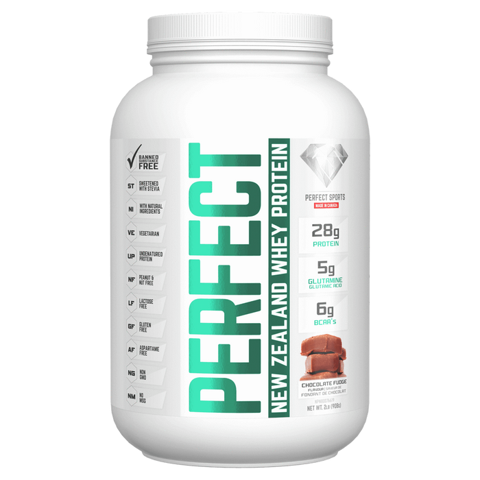 Perfect Sports Perfect Whey Mixed Source Whey Protein 2lb / Chocolate Fudge at Supplement Superstore Canada