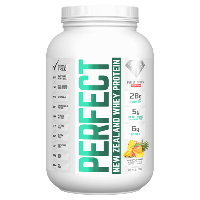 Perfect Sports Perfect Whey Mixed Source Whey Protein 2lb / Pineapple Mango at Supplement Superstore Canada