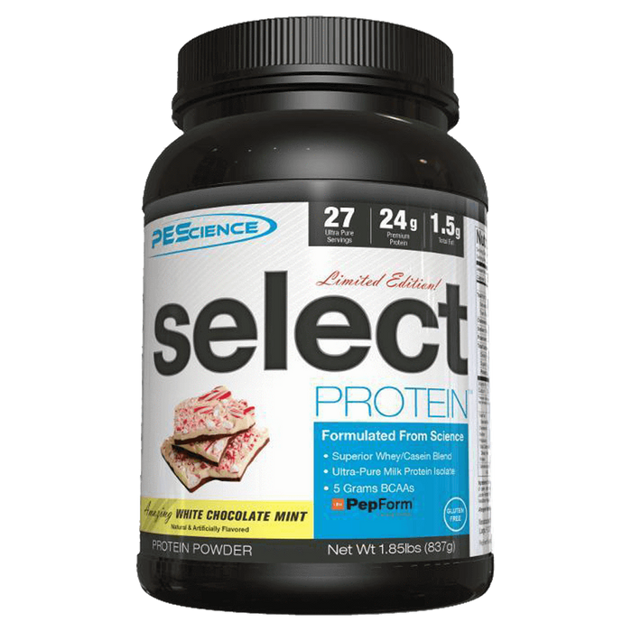 PEScience Select Protein Sustained Release Protein 27 Servings / White Chocolate Mint [Limited Edition] at Supplement Superstore Canada