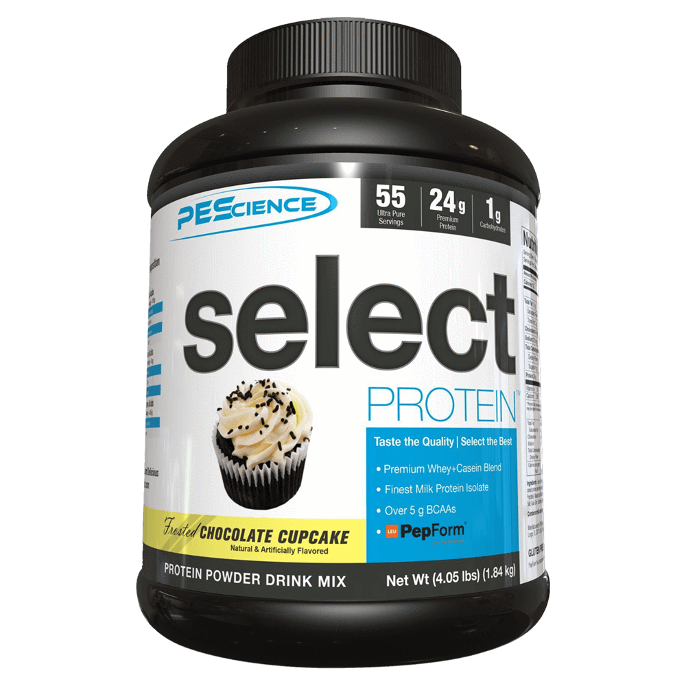 PEScience Select Protein Sustained Release Protein 55 Servings / Frosted Chocolate Cupcake at Supplement Superstore Canada