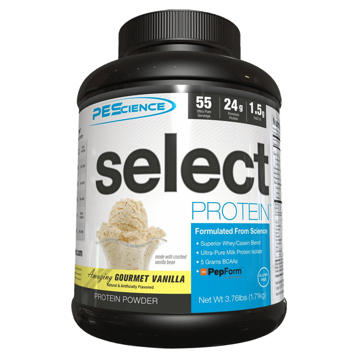 PEScience Select Protein Sustained Release Protein 55 Servings / Gourmet Vanilla at Supplement Superstore Canada
