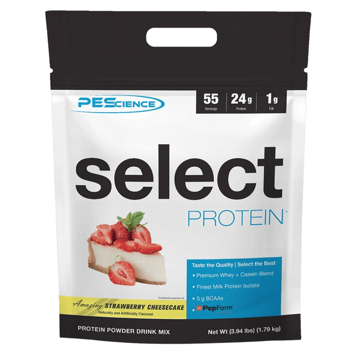 PEScience Select Protein Protein Powder 55 Servings / Strawberry Cheesecake at Supplement Superstore Canada