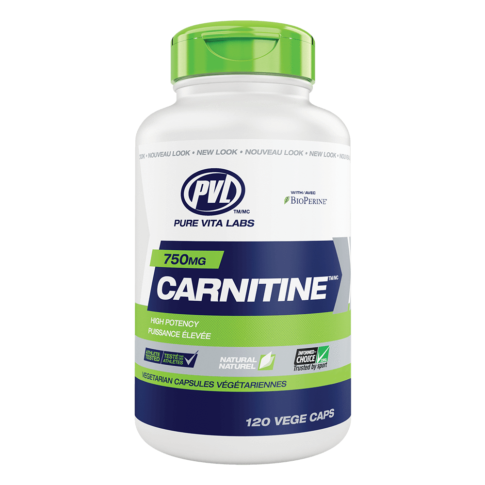 PVL Carnitine 750 Carnitine 120 Capsules at Supplement Superstore Canada