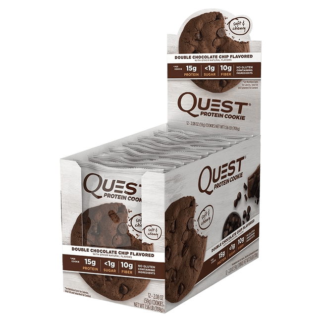 Double Chocolate Chip Quest Cookie by Quest Nutrition Functional Food at Supplement Superstore Canada