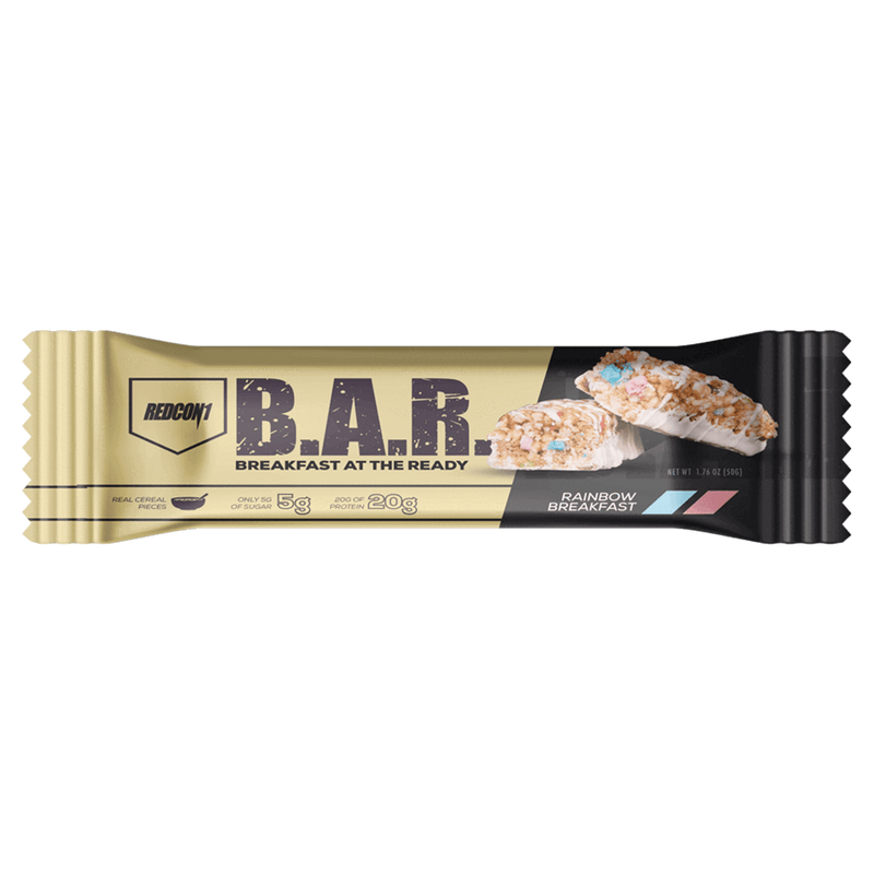 RedCon1 B.A.R. Breakfast At The Ready Protein Bar Box of 12 / Crunchy Cinnamon Bits at Supplement Superstore Canada