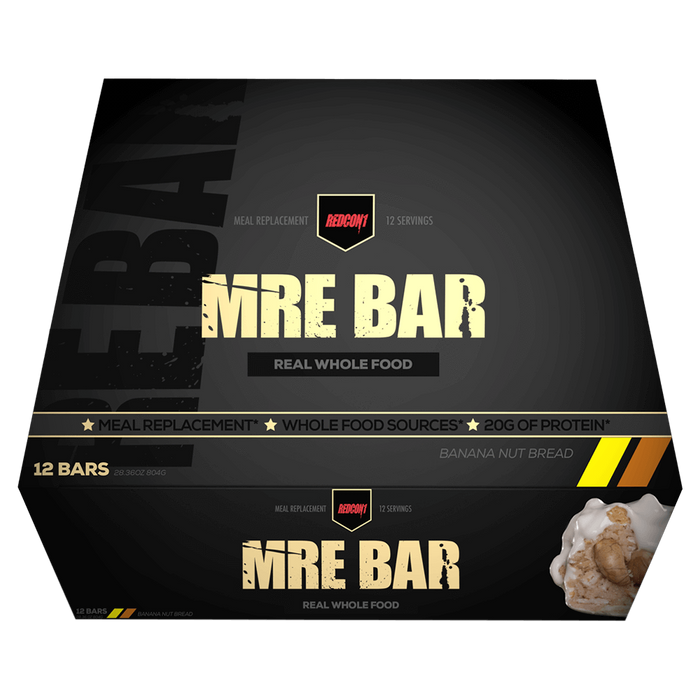 RedCon1 MRE Protein Bar Protein Bar Box of 12 / Banana Nut Bread at Supplement Superstore Canada