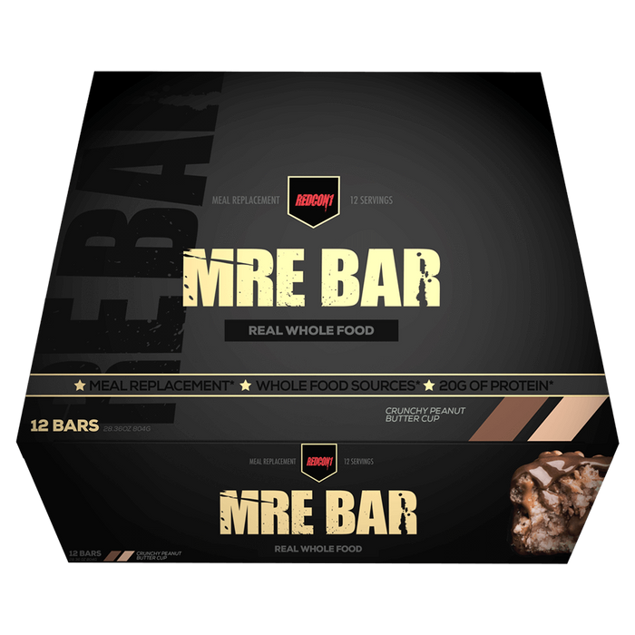 RedCon1 MRE Protein Bar Protein Bar Box of 12 / Crunchy Peanut Butter Cup at Supplement Superstore Canada